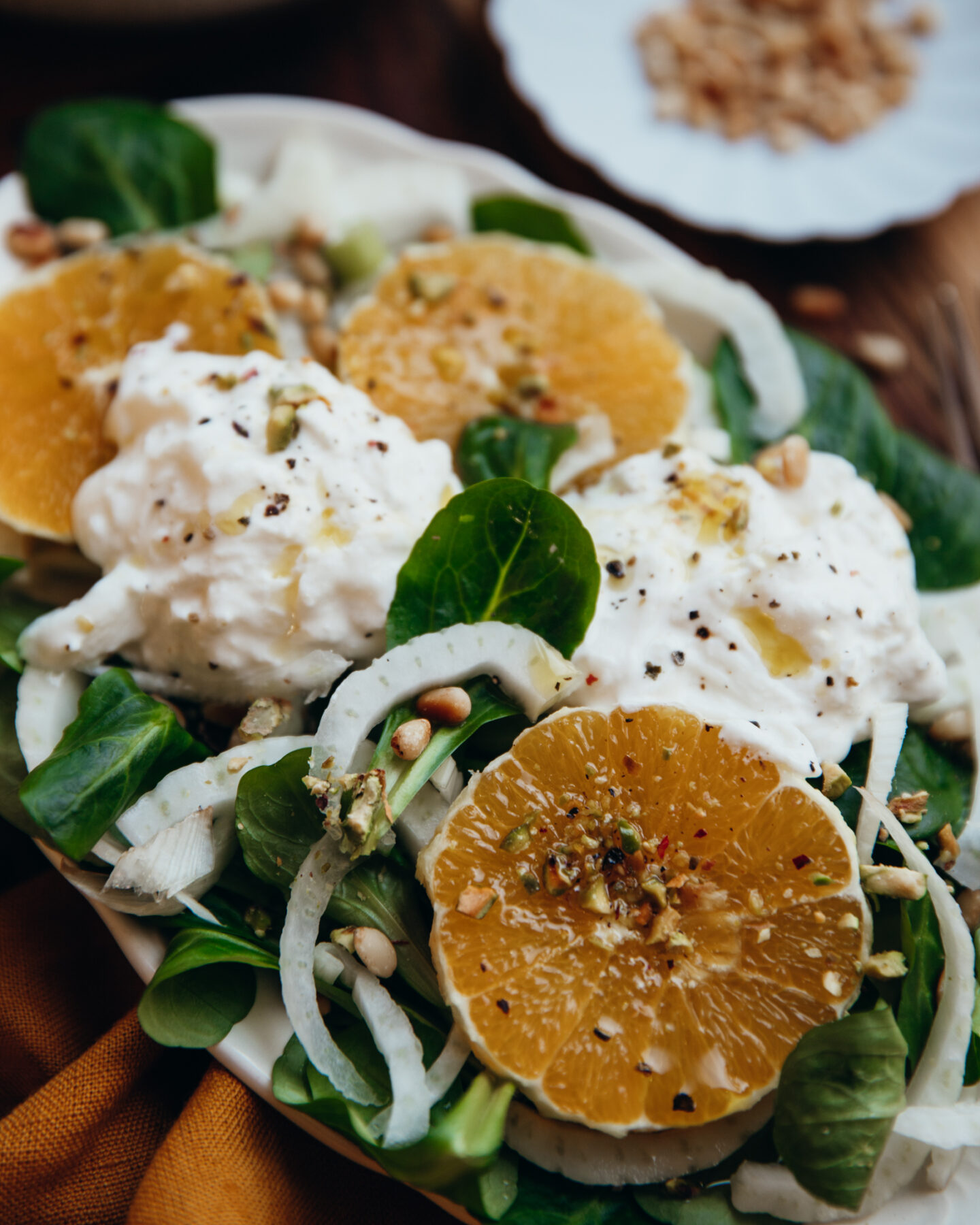 burrata bowl orange fenouil