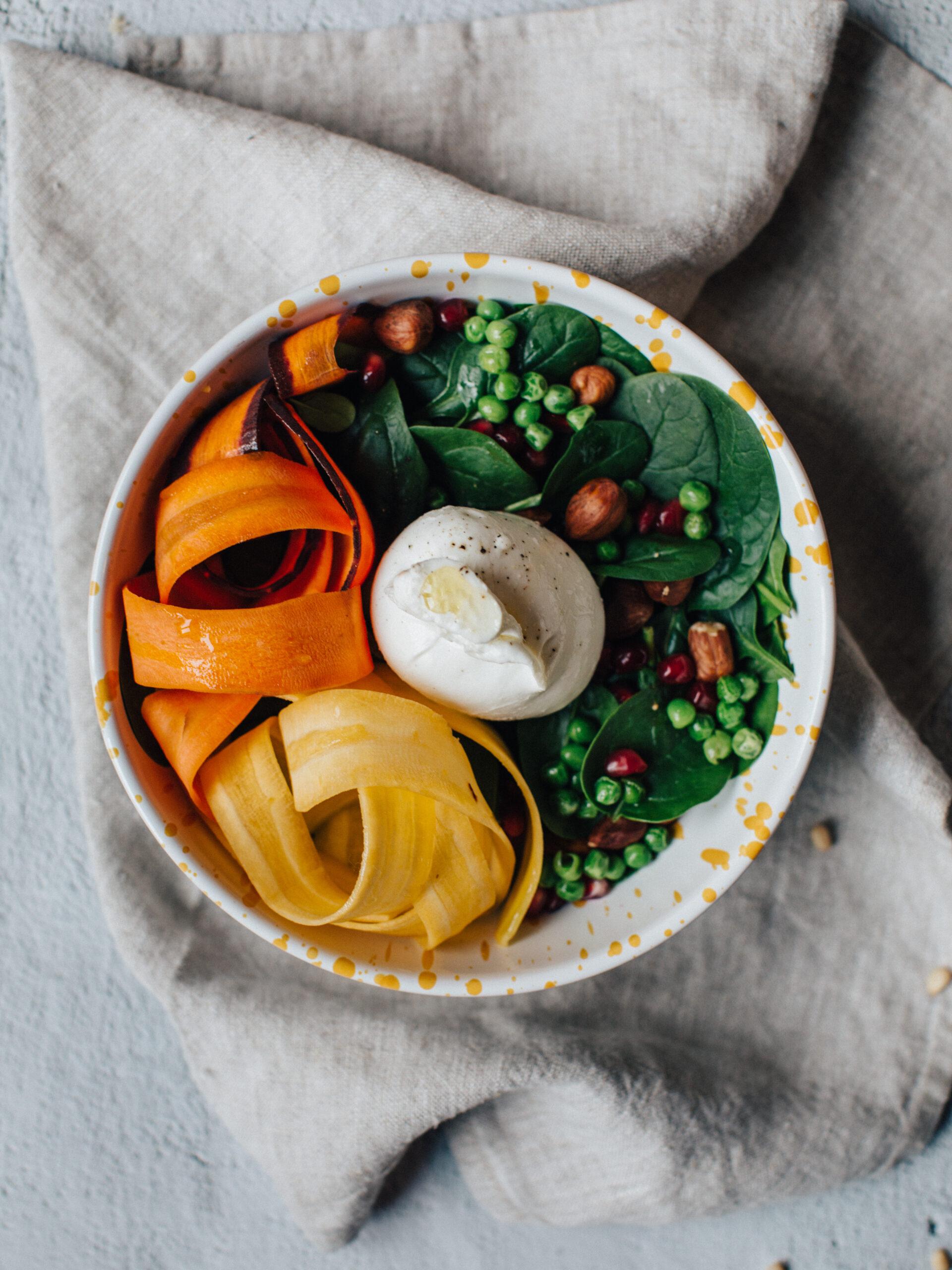 burrata bowl salades printanières