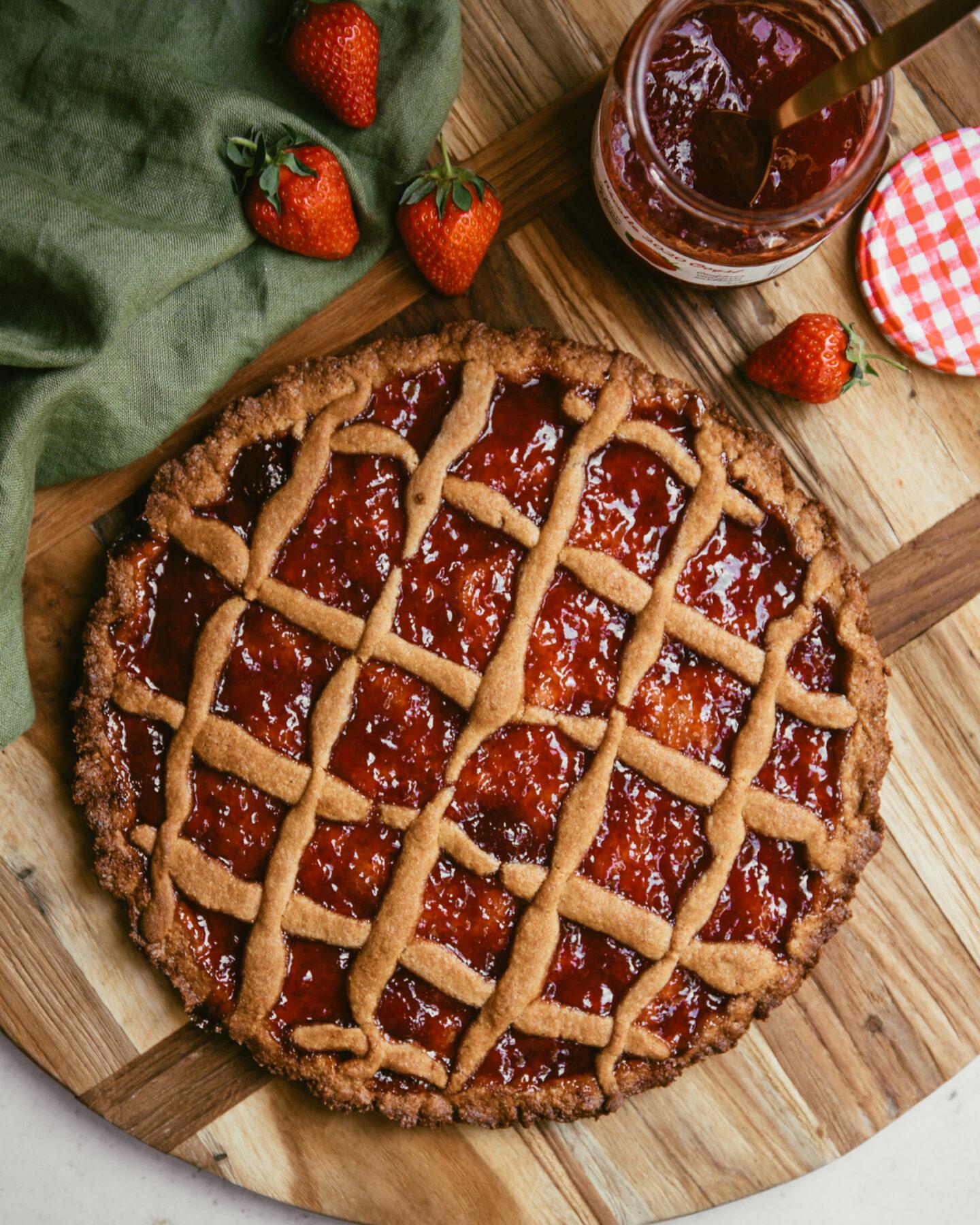 crostata à la confiture de fraises