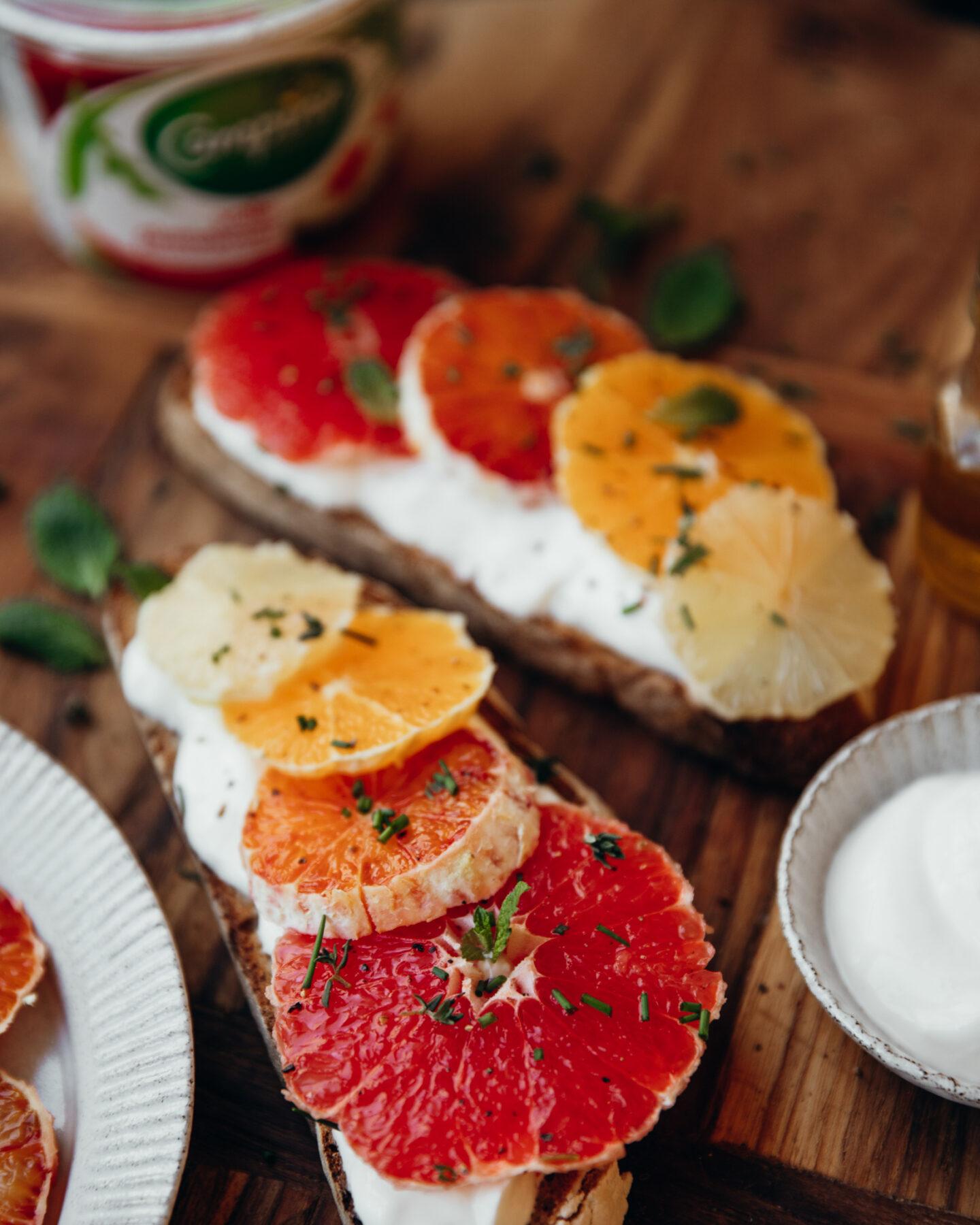 crostone aux agrumes