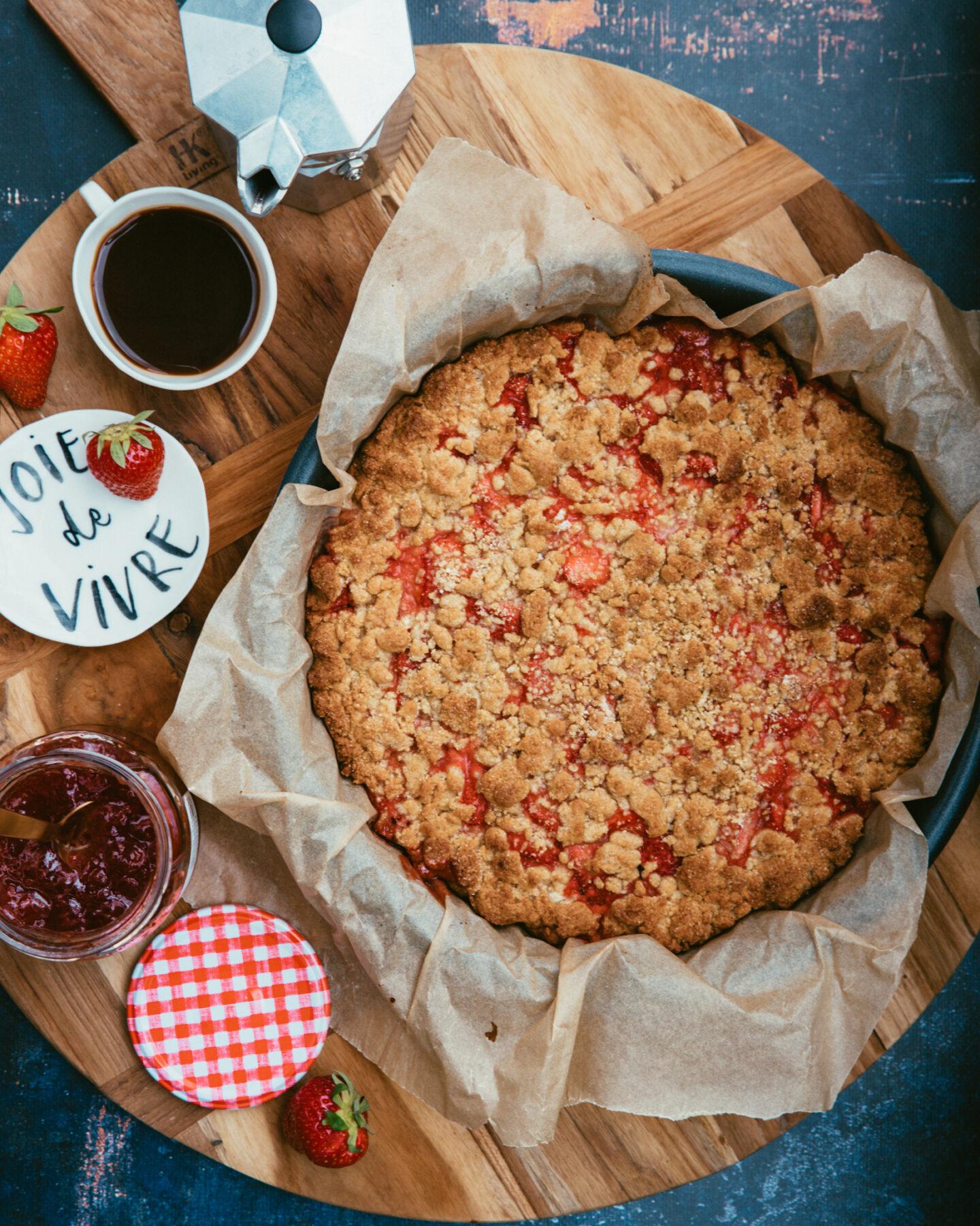 sbriciolata à la confiture de fraises recette