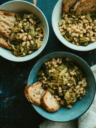 soupes aux scaroles et haricots blancs