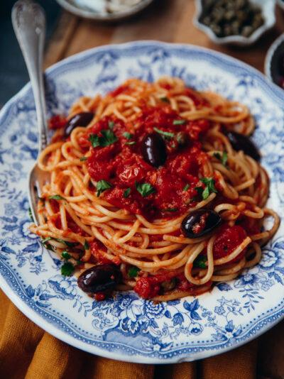spaghetti alla puttanesca recette