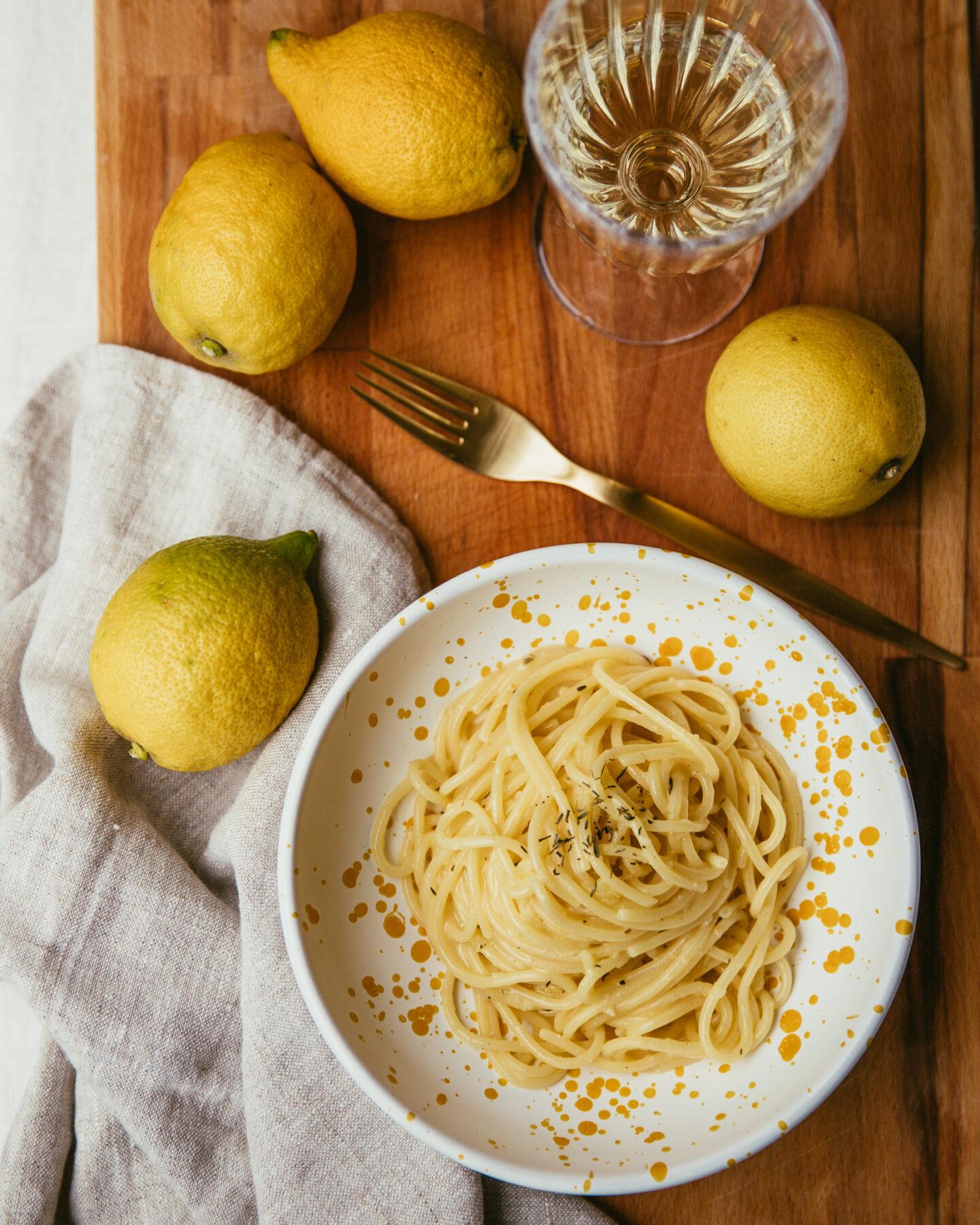spaghetti au citron recette